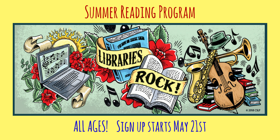 Summer Reading Program startsMay 21st